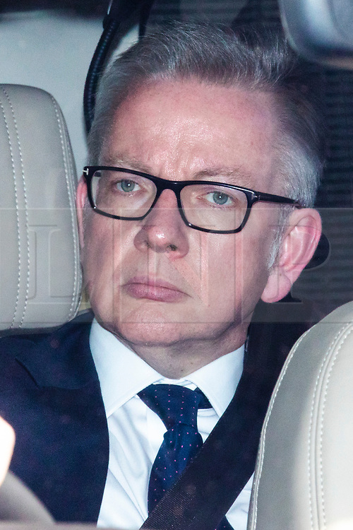 © Licensed to London News Pictures. 20/06/2019. London, UK. Secretary of State for Environment, Food and Rural Affairs Michael Gove, who is running in the Conservative Party leadership contest, leaves Parliament after the second leadership contest vote. The final two candidates will be put to the party membership in a ballot. Photo credit: Rob Pinney/LNP