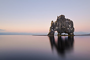 Hvitserkur sea stack in north west Iceland.