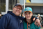 Dolphins fans during the International Series match between Jacksonville Jaguars and Philadelphia Eagles at Wembley Stadium, London, England on 28 October 2018.