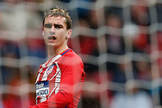 Atletico Madrid's French forward Antoine Griezmann reacts during the Spanish Championship Liga football match between Atletico Madrid and Getafe on January 6, 2018 at the Wanda Metropolitano stadium in Madrid, Spain - Photo Benjamin Cremel / ProSportsImages / DPPI