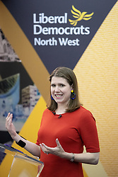 © Licensed to London News Pictures. 14/06/2019. Manchester, UK. JO SWINSON . The Liberal Democrat Party hold a leadership hustings at the St Thomas Centre in Ardwick , Manchester , between candidates Jo Swinson and Ed Davey . Photo credit: Joel Goodman/LNP
