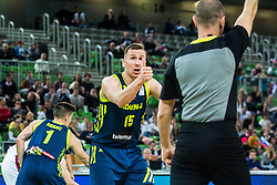 Gregor Hrovat of Slovenia during basketball match between National teams of Slovenia and Latvia in Round #10 of FIBA Basketball World Cup 2019 European Qualifiers, on December 2, 2018 in Arena Stozice, Ljubljana, Slovenia. Photo by Grega Valancic