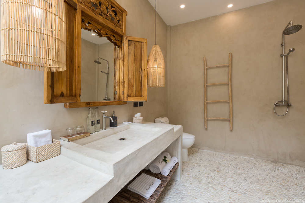 Bathroom of Garden villa at Karma Beach Resort. A Beach resort located on Bophut Beach, Koh Samui, Thailand