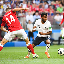Thomas Lemar of France during the FIFA World Cup Group C match between Denmark and France at Luzhniki Stadium on June 26, 2018 in Moscow, Russia. (Photo by Anthony Dibon/Icon Sport)