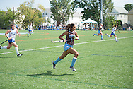 9/12/15 – Medford/Somerville, MA – Tufts forward Hanaa Malik, '19, in the game against the Colby Mules on Saturday, Sep. 12, 2015. (Evan Sayles / The Tufts Daily)