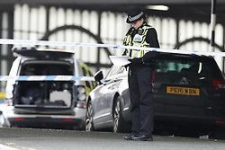 © Licensed to London News Pictures. 05/03/2019. London, UK. The scene at Waterloo Station as police deal with a suspicious package. Earlier reports said the station has been evacuated, but police state that trains are running as normal. Similar incidents have been reported at Heathrow and London City airport. Photo credit: Peter Macdiarmid/LNP