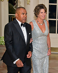Wayne Jordan, Executive, Founder & Principal, Jordan Real Estate Investments, and Quinn Delaney arrive for the State Dinner in honor of Prime Minister Trudeau and Mrs. Sophie Grégoire Trudeau of Canada at the White House in Washington, DC on Thursday, March 10, 2016. EXPA Pictures © 2016, PhotoCredit: EXPA/ Photoshot/ Ron Sachs<br /> <br /> *****ATTENTION - for AUT, SLO, CRO, SRB, BIH, MAZ, SUI only*****