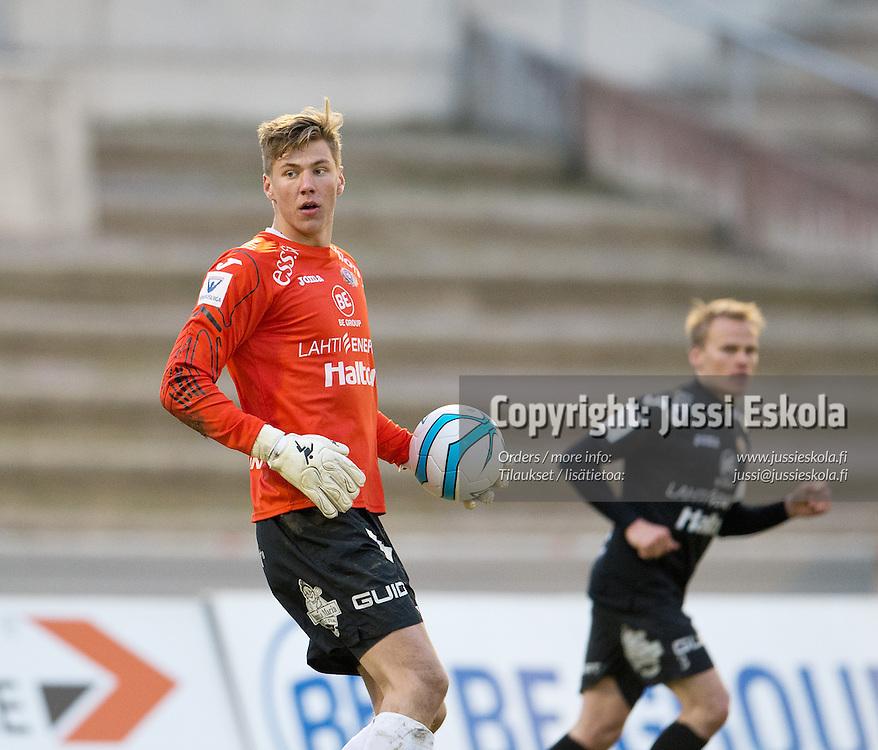 Jesse Joronen. FC Lahti - KuPS. Veikkausliiga. Lahti 5.5.2013. Photo: Jussi Eskola