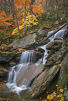 Waterfalls near Smugglers Notch in the Green Mountains of Vermont USA
