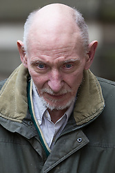 © Licensed to London News Pictures . 17/04/2014 . Manchester , UK . WILLIAM HARPER leaves following a plea and case management hearing at Minshull Street Crown Court , Manchester , today (17th April 2014) . He is charged alongside Ray Teret and Alan Ledger with historic sex offences . Photo credit : Joel Goodman/LNP
