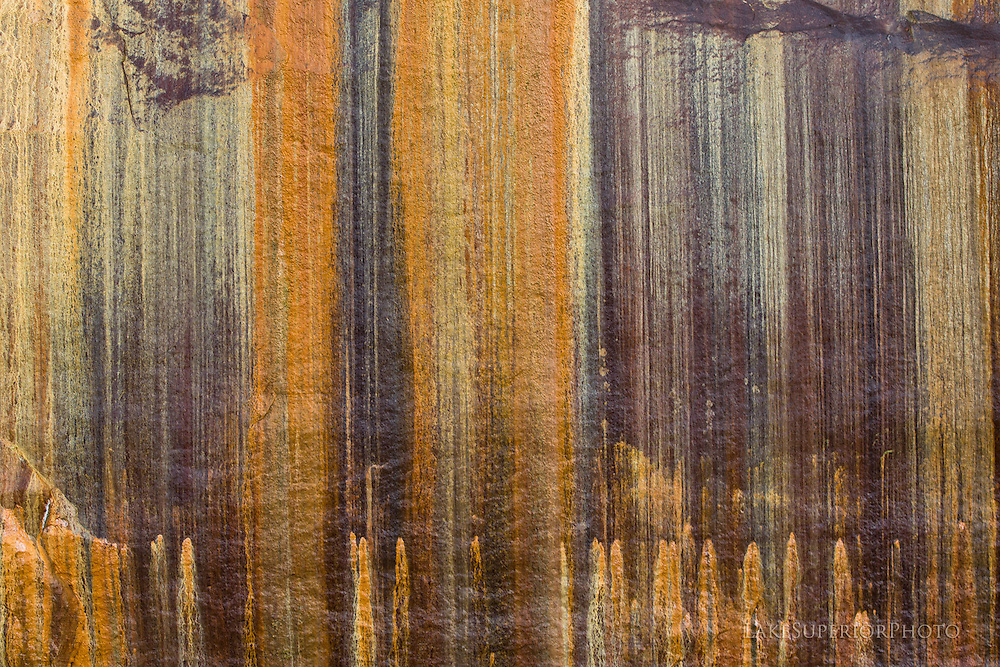 nature's cliff painting, Pictured Rocks