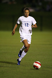 Virginia Cavaliers F Jess Rostedt (12)..The Virginia Cavaliers Women's Soccer Team fell the University of North Carolina Tar Heels 2-0 on October 5, 2006 at Klöckner Stadium in Charlottesville, VA...
