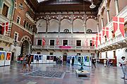 Art exhibition at Copenhagen city hall, Denmark