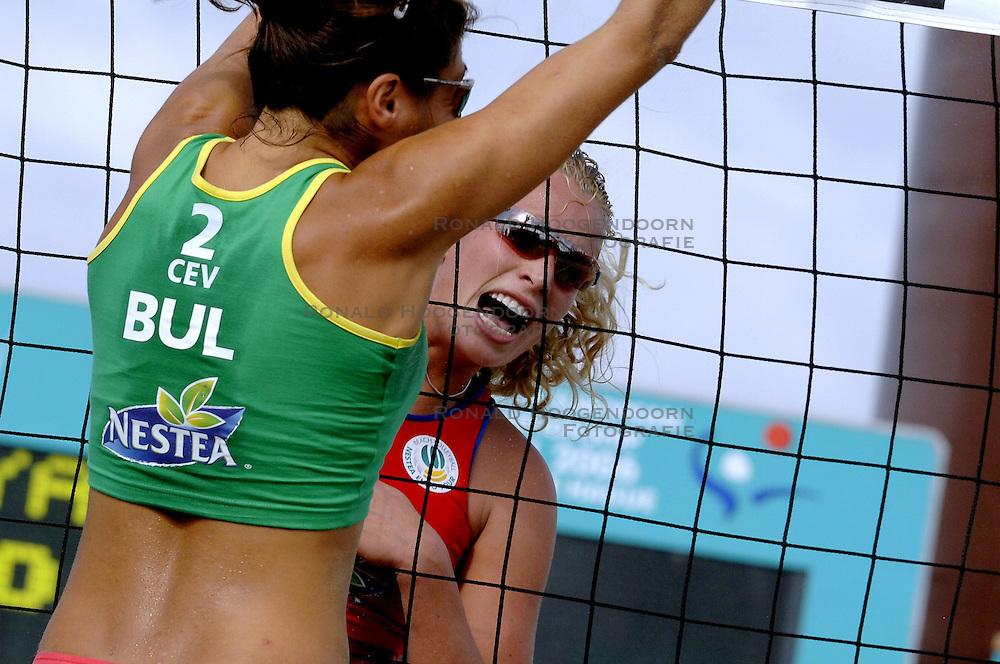 25-08-2006: VOLLEYBAL: NESTEA EUROPEAN CHAMPIONSHIP BEACHVOLLEYBALL: SCHEVENINGEN<br /> Sanne Keizer<br /> ©2006-WWW.FOTOHOOGENDOORN.NL