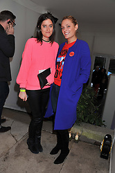 Left to right, VIOLET VON WESTENHOLZ and LEAH DE WAVRIN at the Vogue Festival 2012 in association with Vertu held at the Royal Geographical Society, London on 20th April 2012.