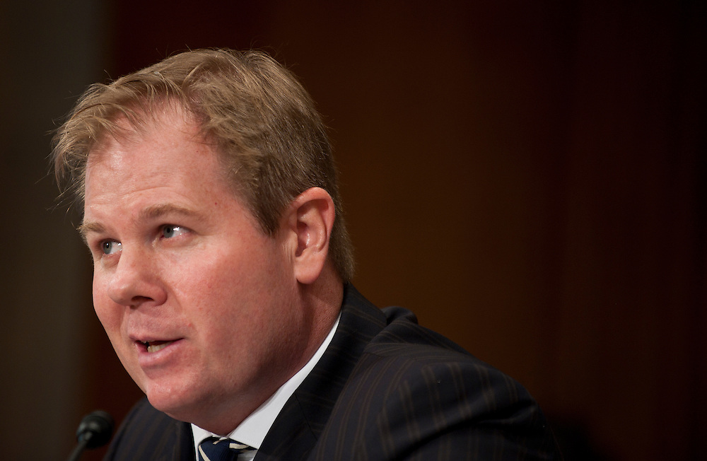 "Jul 27, 2010 - Washington, District of Columbia, U.S., -.Dr. DAVID KILCULLEN, Non-Resident Senior Fellow and former Senior Fellow at the Center for a New American Security, testifies before a Senate Foreign Relations Committee hearing on the ""Perspectives on Reconciliation Options in Afghanistan.""(Credit Image: © Pete Marovich/ZUMA Press)"
