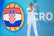 Referee<br /> CRO - FRA <br /> Croatia (white caps) vs. France (blue caps) <br /> Barcelona 15/07/18 Piscines Bernat Picornell <br /> Women qualification<br /> 33rd LEN European Water Polo Championships - Barcelona 2018 <br /> Photo Giorgio Scala/Deepbluemedia/Insidefoto