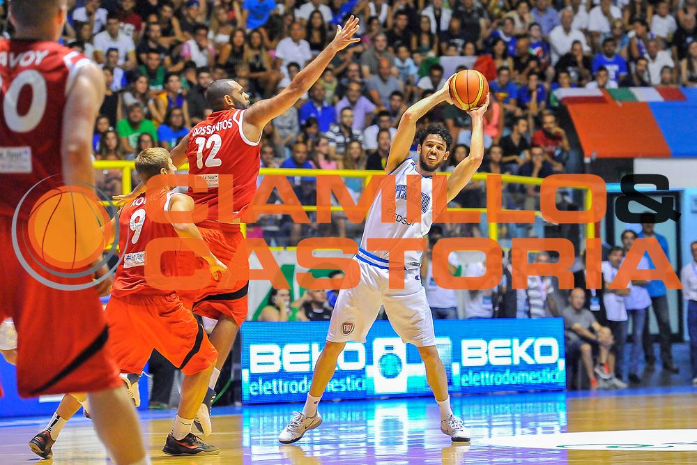 DESCRIZIONE : Cagliari Qualificazione Eurobasket 2015 Qualifying Round Eurobasket 2015 Italia Svizzera - Italy Switzerland<br /> GIOCATORE : Luca Vitali<br /> CATEGORIA : Passaggio<br /> EVENTO : Cagliari Qualificazione Eurobasket 2015 Qualifying Round Eurobasket 2015 Italia Svizzera - Italy Switzerland<br /> GARA : Italia Svizzera - Italy Switzerland<br /> DATA : 17/08/2014<br /> SPORT : Pallacanestro<br /> AUTORE : Agenzia Ciamillo-Castoria/ Luigi Canu<br /> Galleria: Fip Nazionali 2014<br /> Fotonotizia: Cagliari Qualificazione Eurobasket 2015 Qualifying Round Eurobasket 2015 Italia Svizzera - Italy Switzerland<br /> Predefinita :
