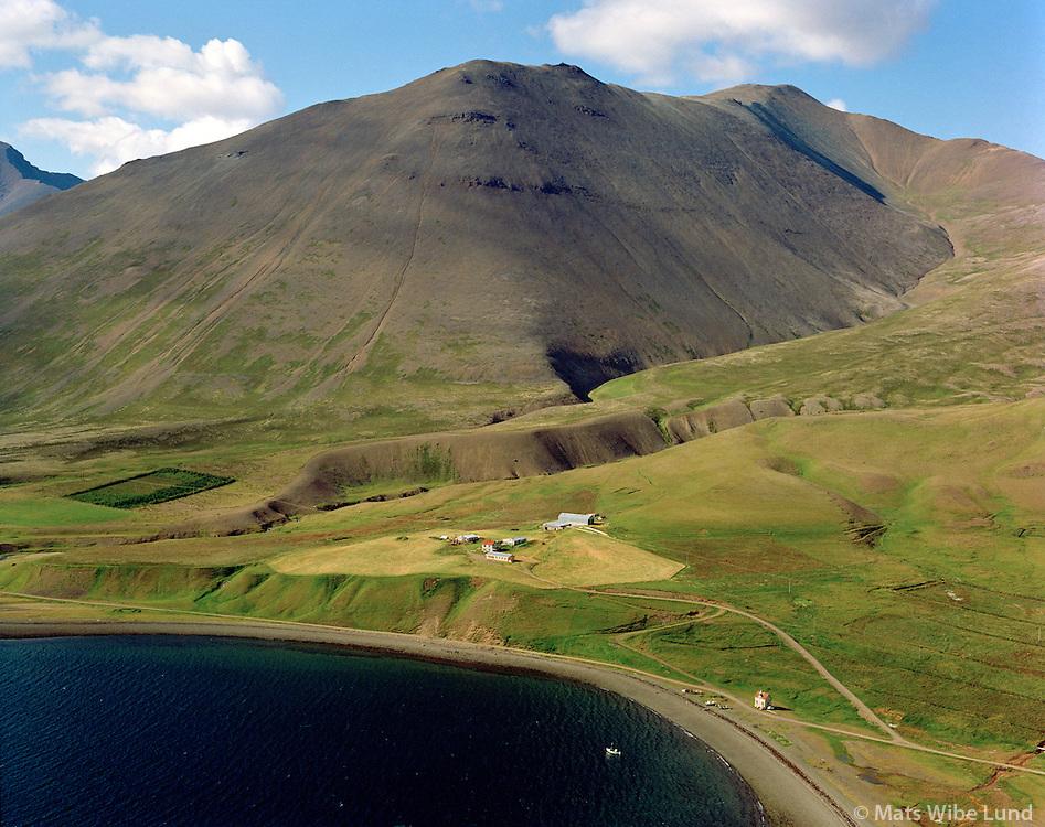 Auðkúla séð til norðurs, Ísafjarðarbær áður Auðkúluhreppur / Audkula viewing north. Isafjardarbaer former Audkuluhreppur.