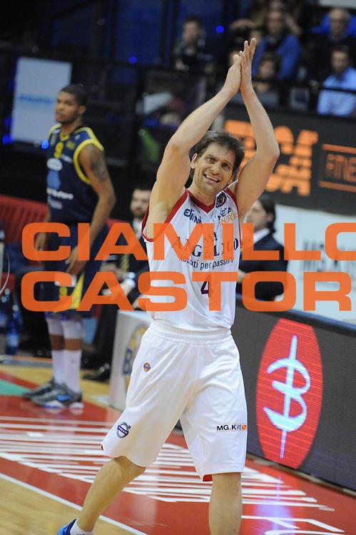 DESCRIZIONE : Biella Lega A 2012-13 Angelico Biella Sutor Montegranaro<br /> GIOCATORE : Goran Jurak<br /> CATEGORIA : Esultanza<br /> SQUADRA : Angelico Biella<br /> EVENTO : Campionato Lega A 2012-2013 <br /> GARA : Angelico Biella Sutor Montegranaro<br /> DATA : 01/04/2013<br /> SPORT : Pallacanestro <br /> AUTORE : Agenzia Ciamillo-Castoria/Max.Ceretti<br /> Galleria : Lega Basket A 2012-2013  <br /> Fotonotizia : Biella Lega A 2012-13 Angelico Biella Sutor Montegranaro<br /> Predefinita :