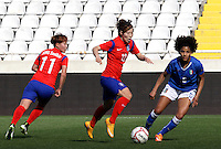 Fifa Womans World Cup Canada 2015 - Preview //<br /> Cyprus Cup 2015 Tournament ( Gsp Stadium Nicosia - Cyprus ) - <br /> South Korea vs Italy 1-2 , Yoo Younga of South Korea (Middle)