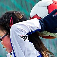 Nederland, Amsterdam, 23-03-2013.<br /> Voetbal, Pupillen MF.<br /> Tijd : 12.22 uur.<br /> SC Buitenveldert F12M - ASC Waterwijk F17M : 1 - 6.<br /> Foto : Klaas Jan van der Weij