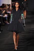 Nyasha Matonhodze walks down runway for F2012 Prabal Gurung's collection in Mercedes Benz fashion week in New York on Feb 10, 2012 NYC