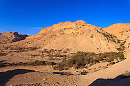 The entrance to the Nahal David canyon in the Ein Gedi nature preserve. WATERMARKS WILL NOT APPEAR ON PRINTS OR LICENSED IMAGES.
