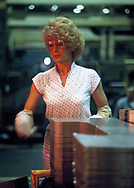 Female worker in an auto plant in Kardale, Ohio in October 1981<br /> Photo by Dennis Brack