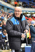 Reading FC Manager Brian McDermott during the Sky Bet Championship match between Reading and Cardiff City at the Madejski Stadium, Reading, England on 19 March 2016. Photo by Mark Davies.