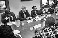 US Senator Cory Booker (D-NJ) speaks at South Jersey Family Medical Center Saturday, July 29, 2017 in Burlington, New Jersey. (Photo by William Thomas Cain)