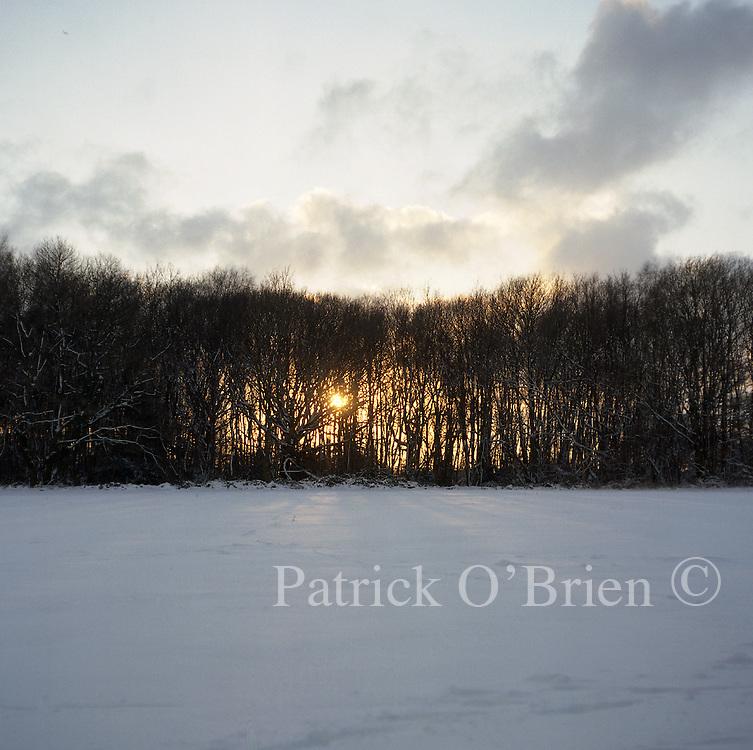 Fields round biggin hill in the snow.