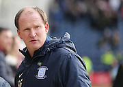 Preston North End manager Simon Grayson during the Sky Bet Championship match between Preston North End and Brighton and Hove Albion at Deepdale, Preston, England on 5 March 2016.