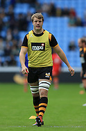 Joe Launchbury of Wasps warming up for his return after a long injury break before the Aviva Premiership match at the Ricoh Arena, Coventry<br /> Picture by Michael Whitefoot/Focus Images Ltd 07969 898192<br /> 09/05/2015