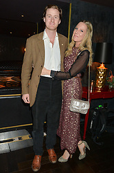 TOM & ALICE NAYLOR-LEYLAND at the Quintessentially Foundation and The Crown Estate's Fayre of St.James' on 27th November 2014.  The evening started with a christmas concert at St.James's Church, Piccadilly.  Following the concert singer Leona Lewis switched on the Jermyn Street Christmas lights and then guests had a party at the newly refurbished Quaglino's, 16 Bury Street, London