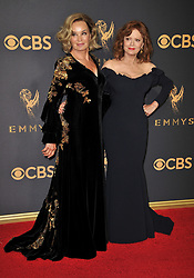 Jessica Lange (L) and Susan Sarandon at the 69th Annual Emmy Awards held at the Microsoft Theater on September 17, 2017 in Los Angeles, CA, USA (Photo by Sthanlee B. Mirador/Sipa USA)