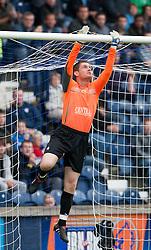 Falkirk's Michael McGovern..Raith Rovers 1 v 0 Falkirk, 6th August 2011..©Pic : Michael Schofield.