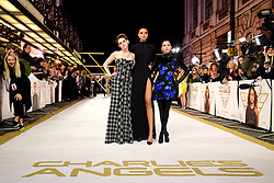 Kristen Stewart, Ella Balinska and Naomi Scott (left-right) attending the Charlie's Angels UK Premiere at the Curzon Mayfair, London.