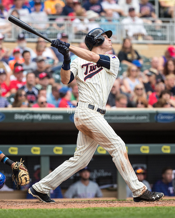 MINNEAPOLIS, MN- JULY 02: Max Kepler #26 of the Minnesota Twins bats against the Texas Rangers on July 2, 2016 at Target Field in Minneapolis, Minnesota. The Twins defeated the Rangers 17-5. (Photo by Brace Hemmelgarn) *** Local Caption *** Max Kepler
