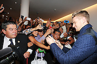 Nico Hulkenberg (GER) Sahara Force India F1 signs autographs for the fans.<br /> Sahara Force India F1 Team Livery Reveal, Soumaya Museum, Mexico City, Mexico. Wednesday 21st January 2015.