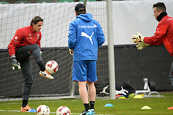 04.03.2014, AFG Arena, St. Gallen, SUI, Training der Schweizer Nationalmannschaft, vor dem Testspiel gegen Kroatien, im Bild Yann Sommer, Diego Benaglio (SUI) // during a practice session of swiss national football team prior to the international frindley against Croatia at the AFG Arena in St. Gallen, Switzerland on 2014/03/04. EXPA Pictures © 2014, PhotoCredit: EXPA/ Freshfocus/ Andy Mueller<br /> <br /> *****ATTENTION - for AUT, SLO, CRO, SRB, BIH, MAZ only*****