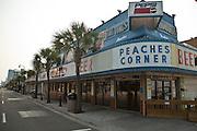 Ocean Blvd tourist strip on the boardwalk along the beachfront in Myrtle Beach, SC.