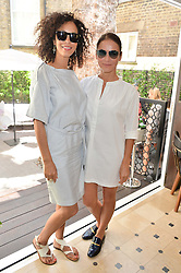 Left to right, JEANETTE CALLIVA and CINDY BILTON at a ladies lunch at Toto's, Walton Street, London on 12th June 2014.