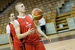 Edo Muric during practice session of team Slovenia before Round 2 at Day 8 of Eurobasket 2013 on September 11, 2013 in Jezica Hall, Ljubljana, Slovenia. (Photo By Urban Urbanc / Sportida.com)
