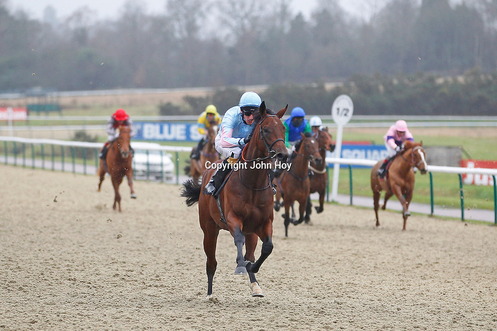 Consign and George Baker winning the 12.30 race