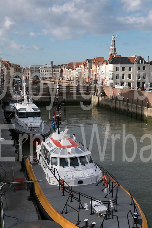 Altstadt, Hafen, Vlissingen, Provinz Seeland, Niederlande | old town, harbour, Vlissingen, North Sea Coast, Zeeland, Netherlands