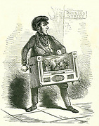 Lord John Russell shown  campaigning for abolition of the Corn Laws. Between 1815 and 1846 Corn Laws kept corn prices high to protect farmers from foreign competition. The poor suffered from the high price of bread. Repealed in 1846.  Cartoon From 'Punch', London, January 1846.