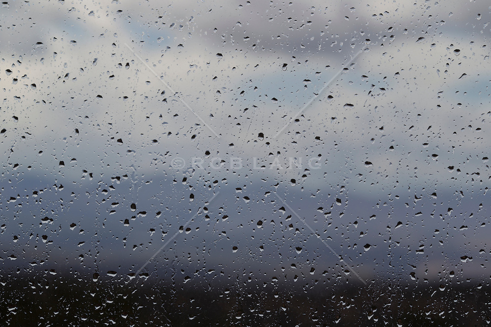 raindrops on a window in New Mexico