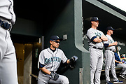 "Baltimore, Maryland - June 25, 2018: Seattle Mariners star Ichiro Suzuki takes a beat before fading into the visiting team locker room at Camden Yards in Baltimore before the Mariners play the Orioles Monday June 25, 2018. <br /> <br /> He goes through all the pre-game warm ups like any position player on the Seattle Mariners, before their game against the Baltimore Orioles at Camden Yard Monday June 25th  -- except his current position is ""Special Assistant to the Chairman,"" in the ball club's front office.<br /> He does everything an active player does except play. His new position in management forbids him from being in the dugout during game play, so he soaks up as much time with the players before the first pitch. <br /> <br /> CREDIT: Matt Roth for The New York Times<br /> Assignment ID: 30221475A"