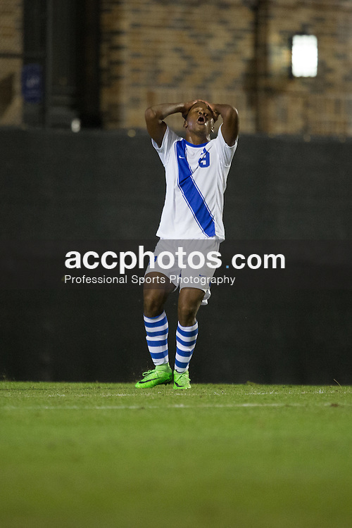 2015 October 13: Jeremy Ebobisse #19 of the Duke Blue Devils during a game against the Holy Cross Crusaders in Durham, NC. Holy Cross won 1-0.